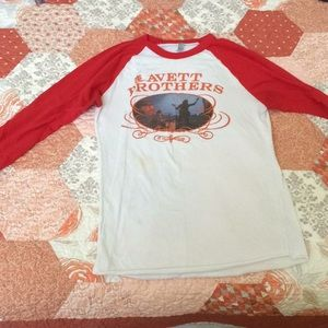 Avett brother baseball tee